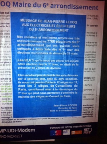 dominique baud,paris 6,75006,municipales 2014,paris libéré,ump,modem,jean-pierre lecoq,marielle de sarnez